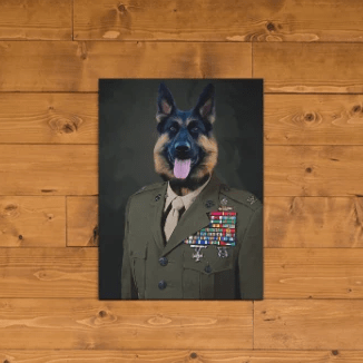 Paw&Bone Pawtrait™ Custom The Army Canvas Custom Portrait - Personalized Gift