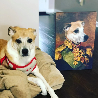 Paw&Bone Pawtrait™ Custom The Colonel Canvas Custom Portrait - Personalized Gift