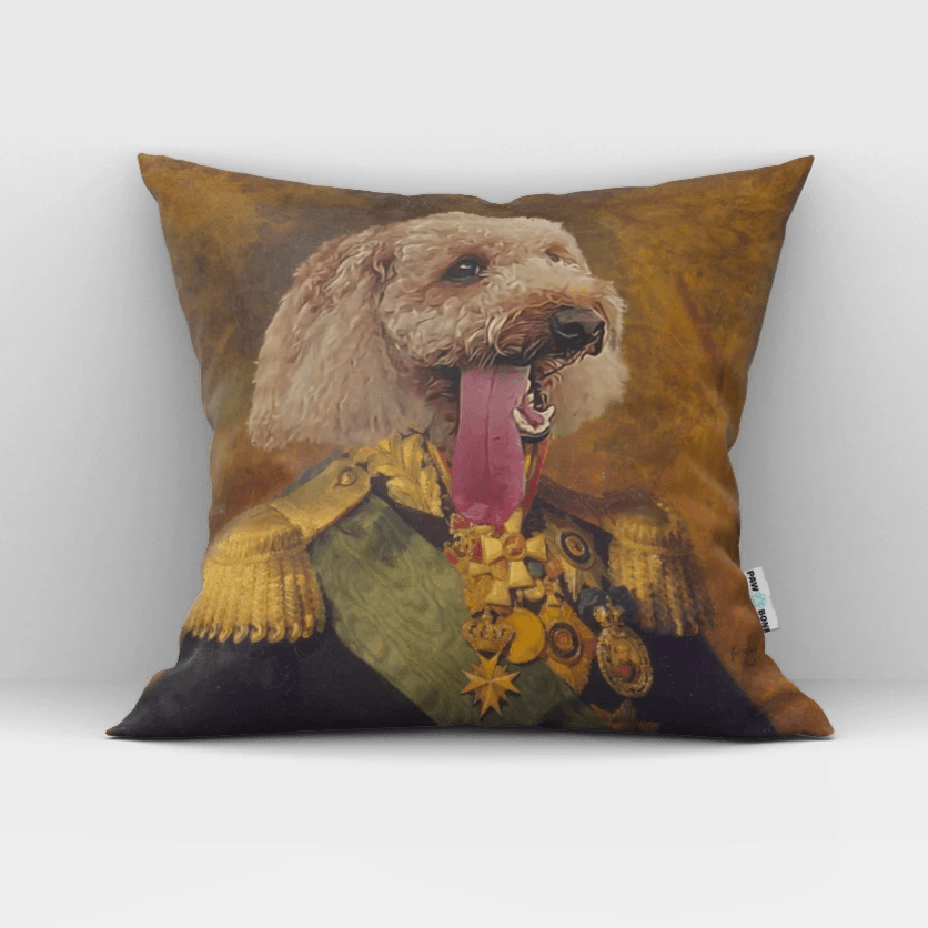 Paw&Bone Pawtrait™ Custom The Colonel Couch Pillow Custom Portrait - Personalized Gift