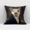 Paw&Bone Pawtrait™ Custom The Count Couch Pillow Custom Portrait - Personalized Gift