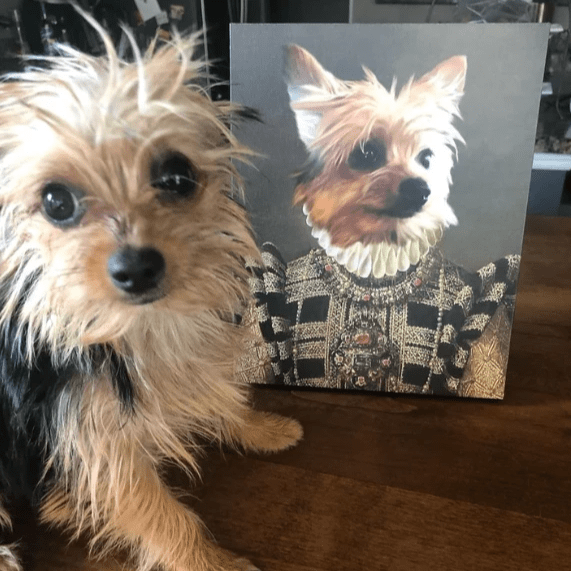 Paw&Bone Pawtrait™ Custom The Dame Canvas Custom Portrait - Personalized Gift