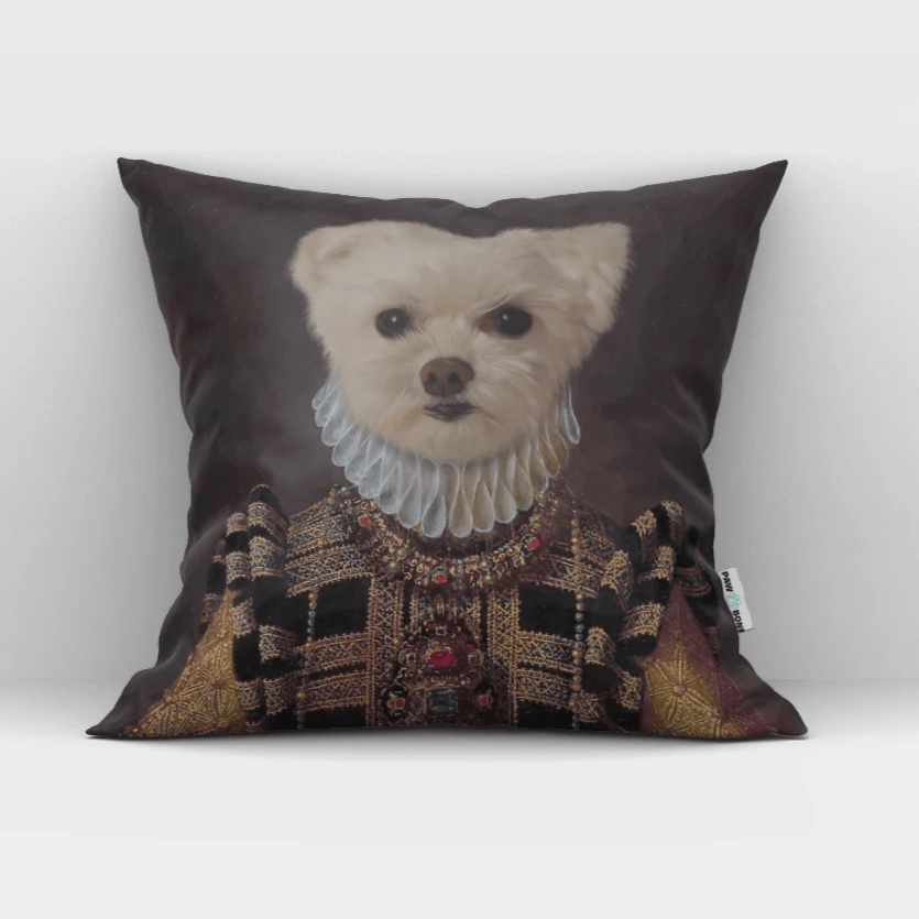 Paw&Bone Pawtrait™ Custom The Dame Couch Pillow Custom Portrait - Personalized Gift
