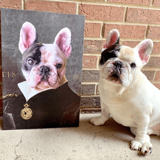 Paw&Bone Pawtrait™ Custom The Duchess Canvas Custom Portrait - Personalized Gift
