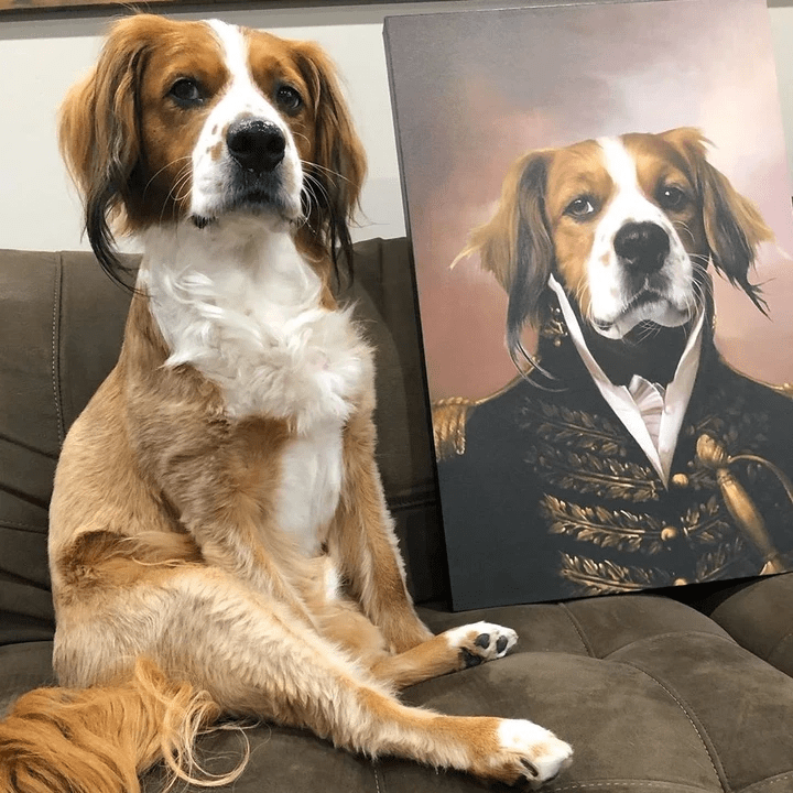 Paw&Bone Pawtrait™ Custom The General Canvas Custom Portrait - Personalized Gift