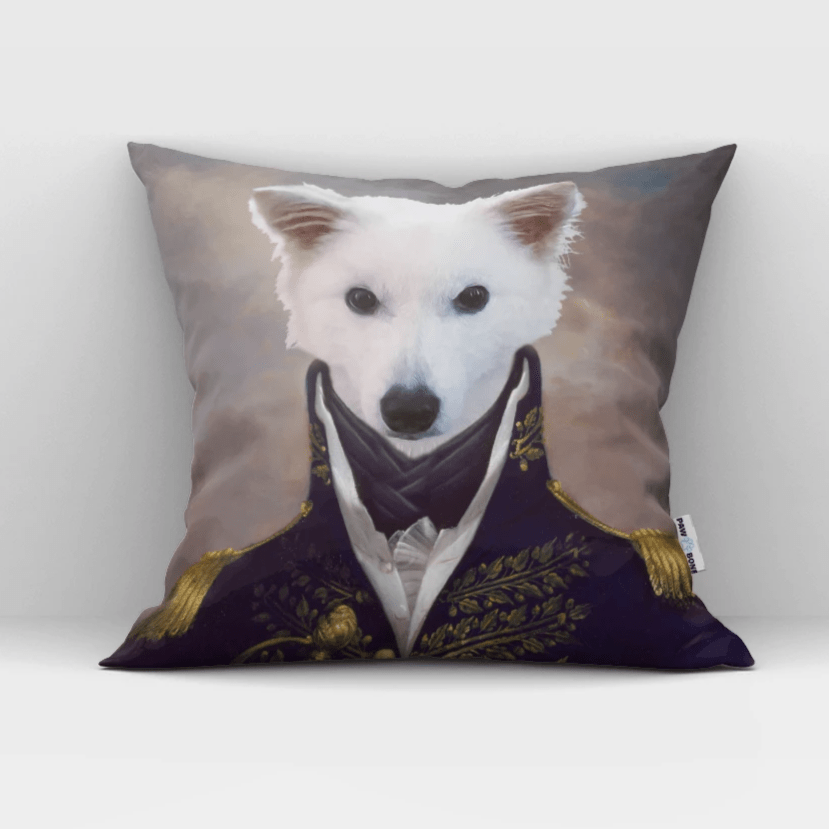 Paw&Bone Pawtrait™ Custom The General Couch Pillow Custom Portrait - Personalized Gift