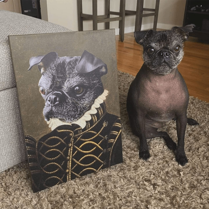 Paw&Bone Pawtrait™ Custom The Noble Canvas Custom Portrait - Personalized Gift