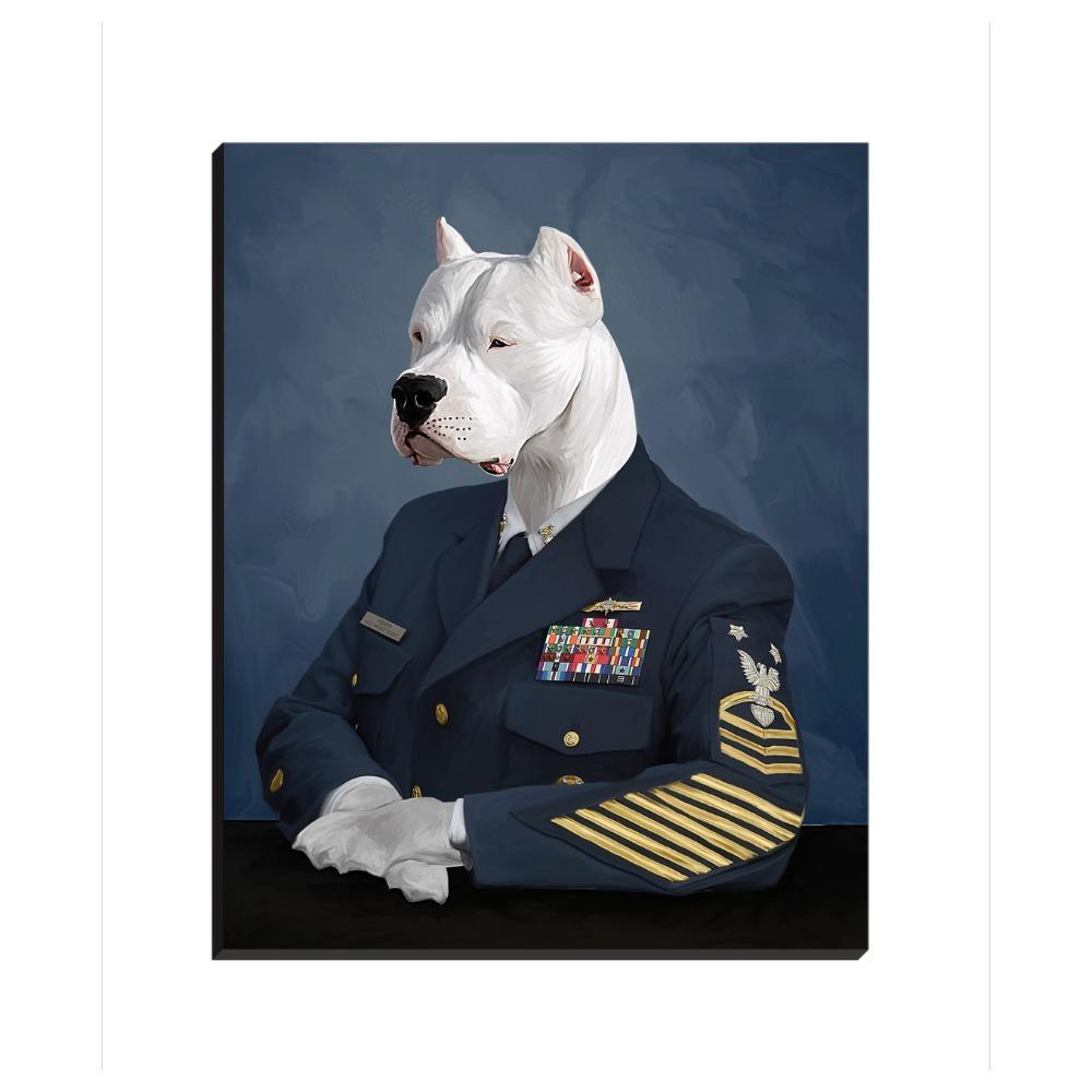 Paw&Bone Pawtrait™ Custom The Officer Canvas Custom Portrait - Personalized Gift