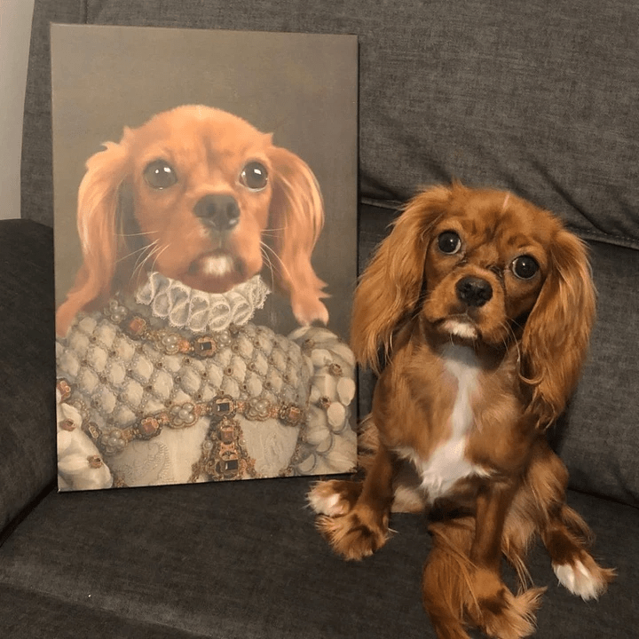 Paw&Bone Pawtrait™ Custom The Princess Canvas Custom Portrait - Personalized Gift