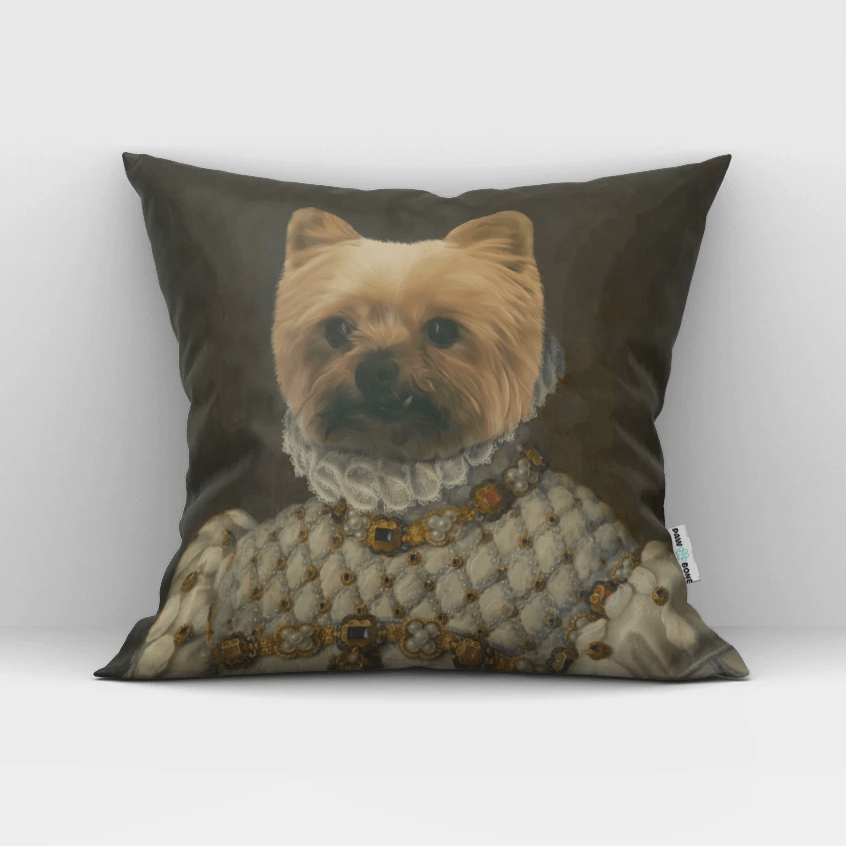 Paw&Bone Pawtrait™ Custom The Princess Couch Pillow Custom Portrait - Personalized Gift