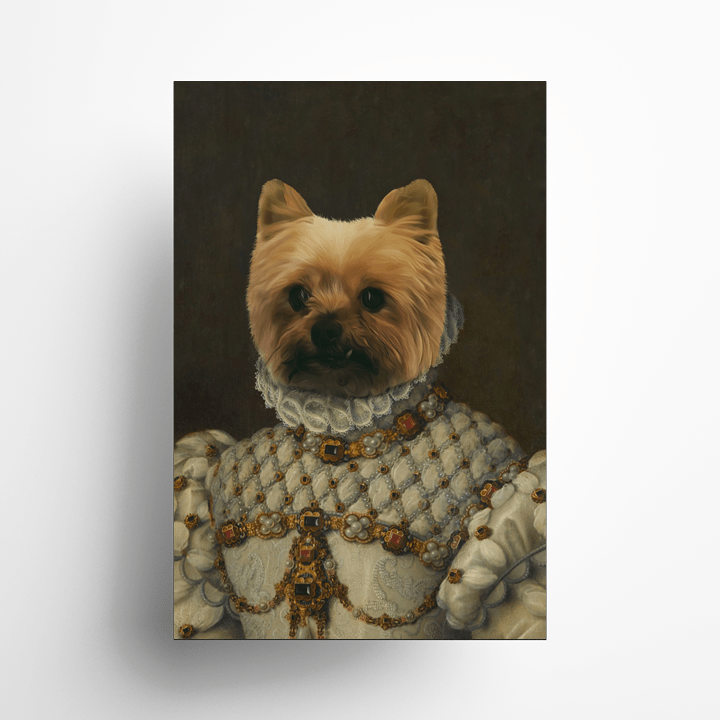 Paw&Bone Pawtrait™ Custom The Princess Poster Custom Portrait - Personalized Gift