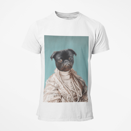 Paw&Bone Pawtrait™ Custom The Queen T-shirts Custom Portrait - Personalized Gift