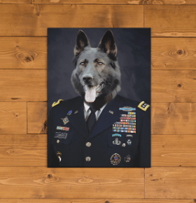Paw&Bone Pawtrait™ Custom The Trouper Canvas Custom Portrait - Personalized Gift