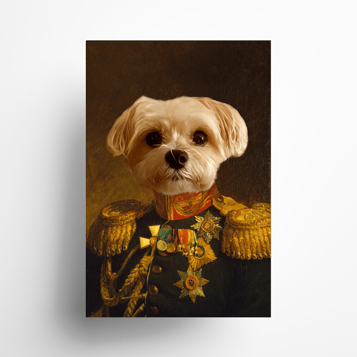 Paw&Bone Pawtrait™ Custom The Veteran Poster Custom Portrait - Personalized Gift
