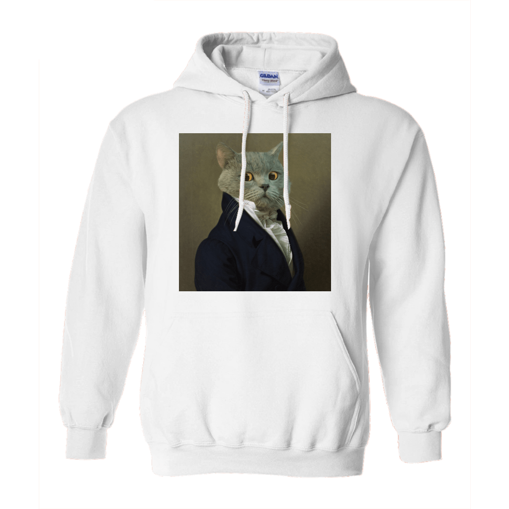 Paw&Bone White / Small (S) Pawtrait™ Custom The Ambassador Hoodie Custom Portrait - Personalized Gift