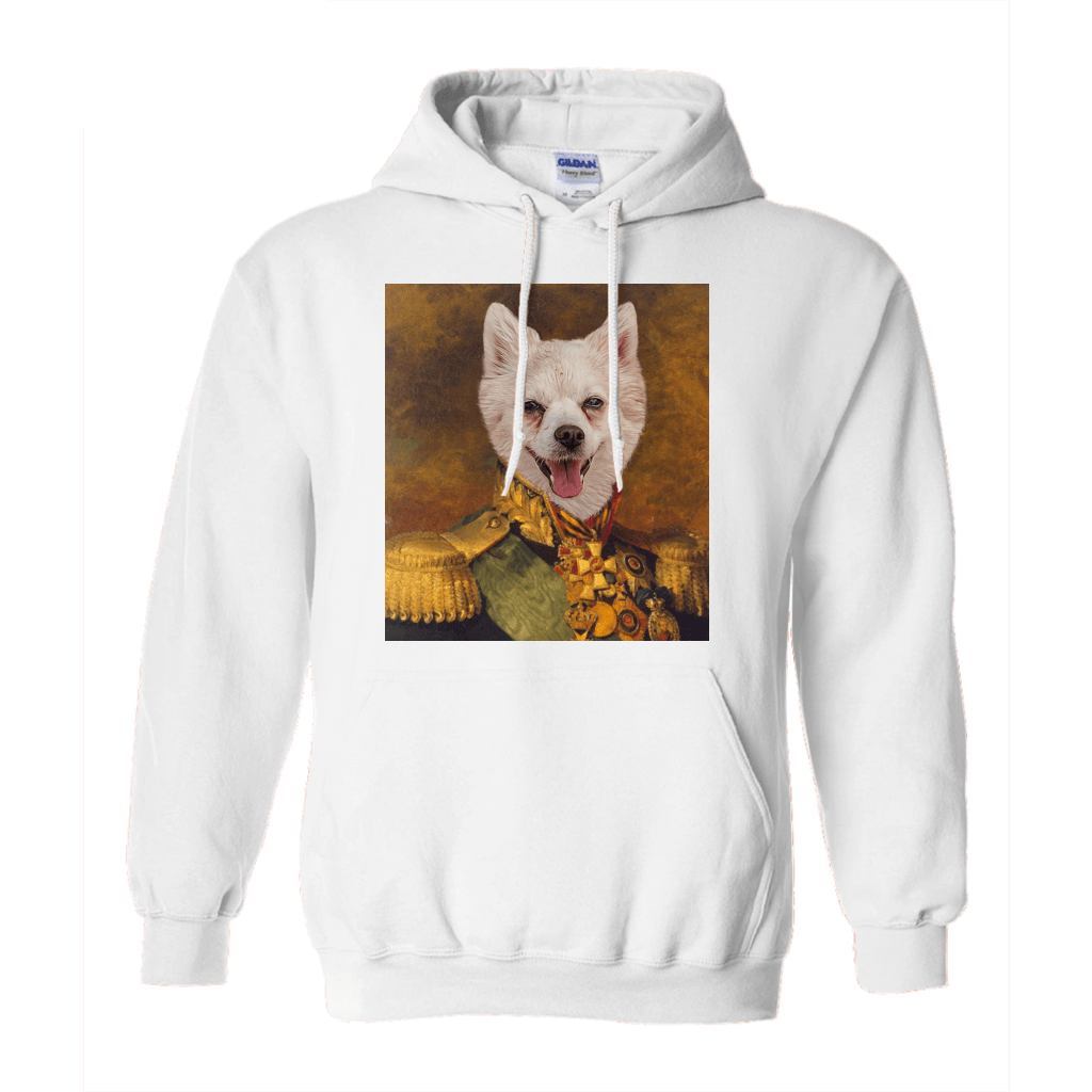 Paw&Bone White / Small (S) Pawtrait™ Custom The Colonel Hoodie Custom Portrait - Personalized Gift