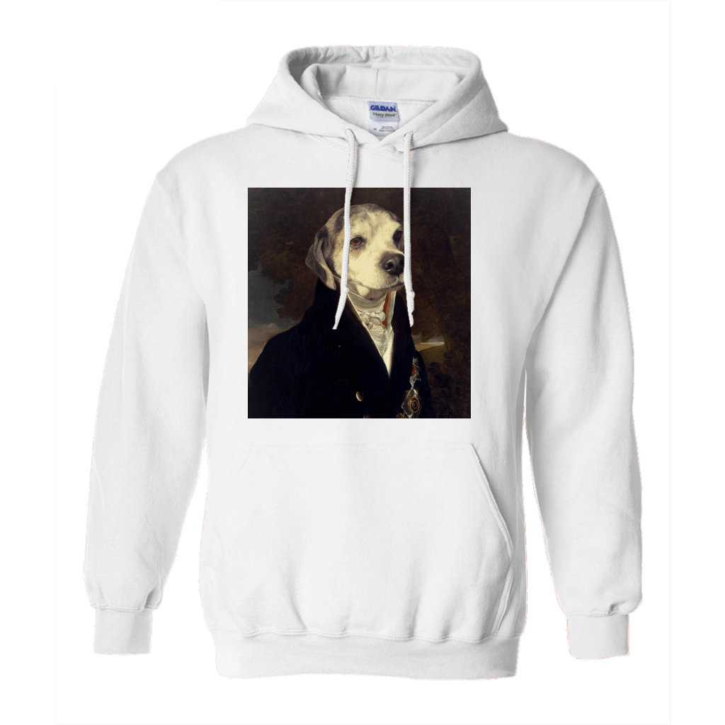 Paw&Bone White / Small (S) Pawtrait™ Custom The Count Hoodie Custom Portrait - Personalized Gift
