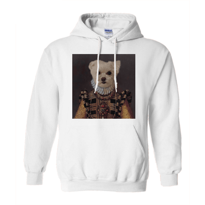 Paw&Bone White / Small (S) Pawtrait™ Custom The Dame Hoodie Custom Portrait - Personalized Gift