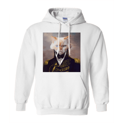 Paw&Bone White / Small (S) Pawtrait™ Custom The General Hoodie Custom Portrait - Personalized Gift