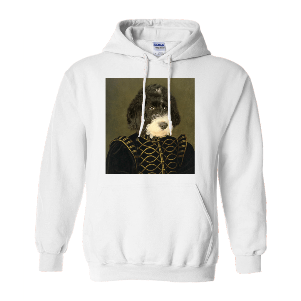 Paw&Bone White / Small (S) Pawtrait™ Custom The Noble Hoodie Custom Portrait - Personalized Gift
