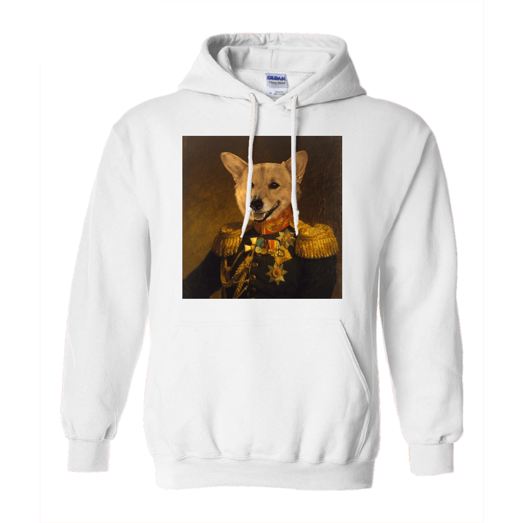 Paw&Bone White / Small (S) Pawtrait™ Custom The Veteran Hoodie Custom Portrait - Personalized Gift