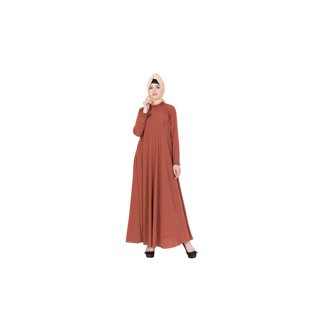 Lazuli - Pleated Orange Abaya