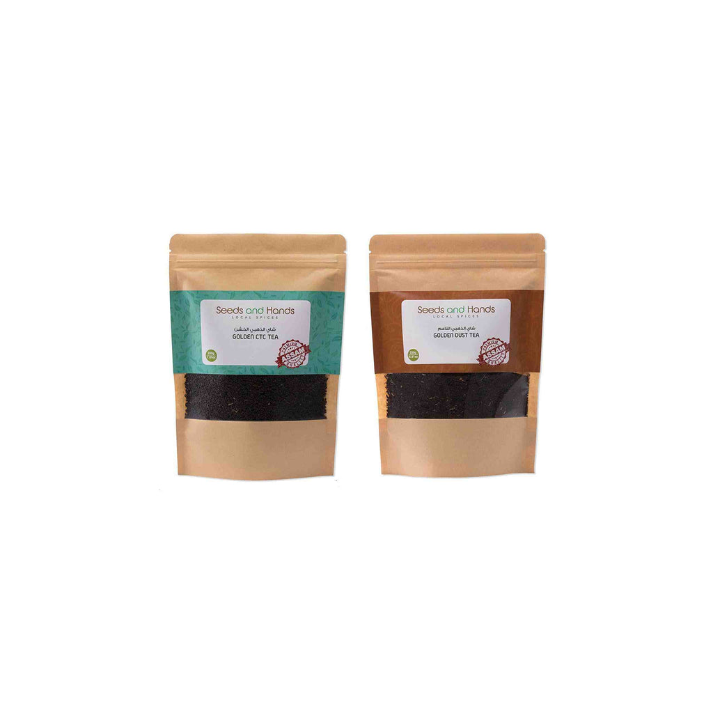 Seeds and Hands Spices Combo Pack (CTC Tea 200g, Dust Tea 250g)