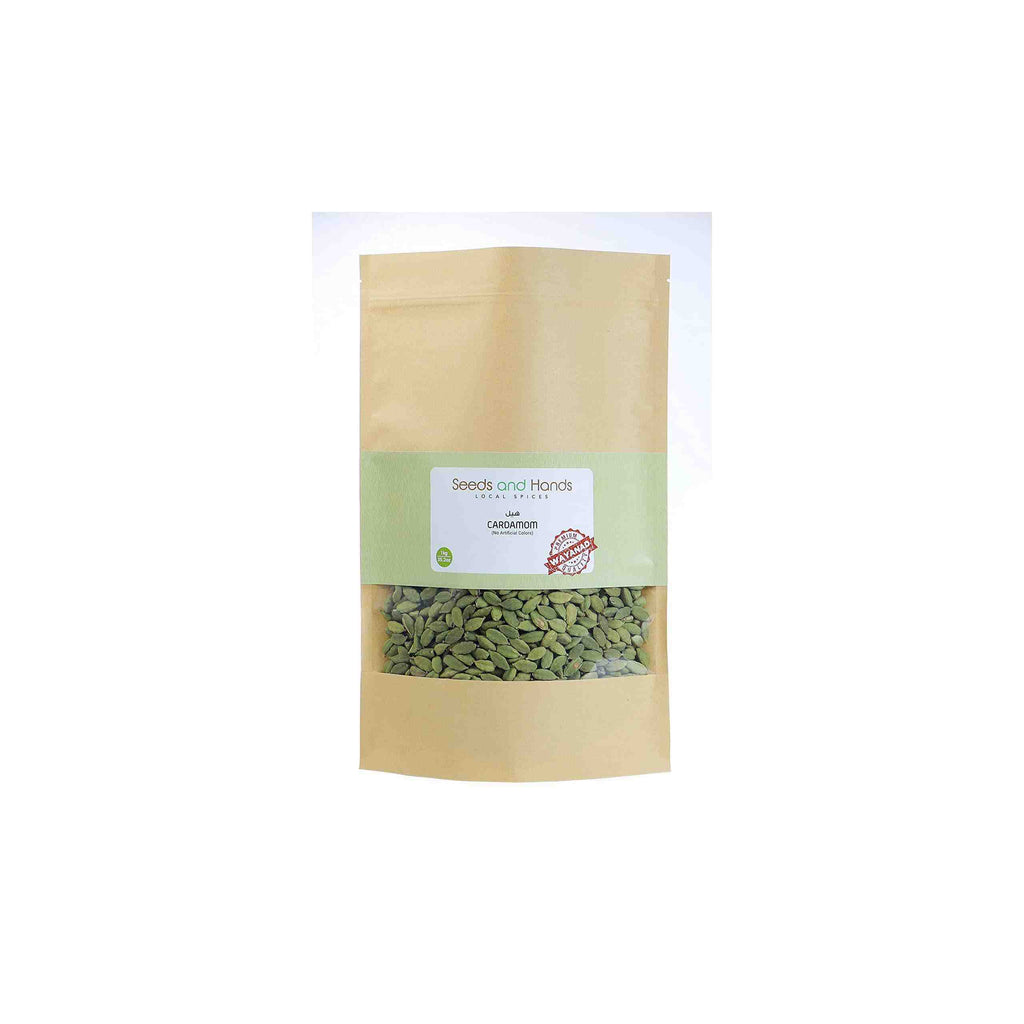 Seeds and Hands Wayanad Big Size 8mm Green Cardamom/Elaichi Whole [No Artificial Colors] (Super Saver Pack 1kg)