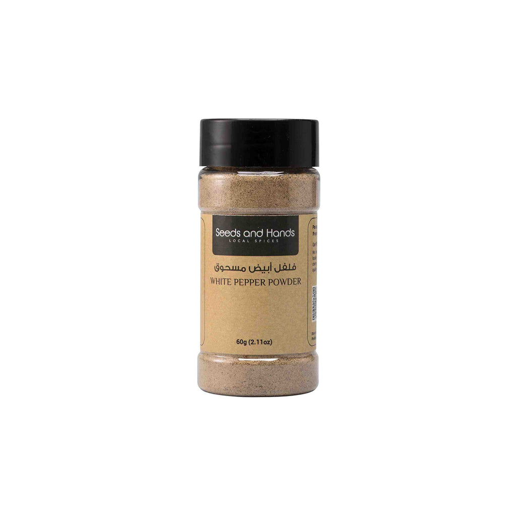 Seeds and Hands Wayanad White Pepper Powder [100% Pure and Natural - Pesticide Free] (60g)