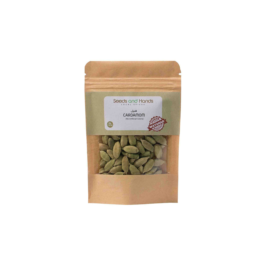 Seeds and Hands Wayanad Big Size 8mm Green Cardamom/Elaichi Whole [No Artificial Colors] (40g)