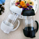 Cute Cat Glass Cup Tea Mug With Fish Infuser Strainer Filter
