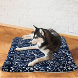 Large Soft Print Flannel Cotton Mattress Bed For Dogs and  Cats