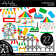 Carnival / Amusement Park Clipart - Unlined