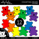 Counting Bears Clipart - Outlined