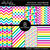 Digital Backgrounds / Papers Set: Rockin' Rainbow Outlined