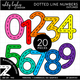 Colorful Dotted Line Numbers Clipart - Outlined