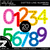 Colorful Dotted Line Numbers Clipart - Unlined
