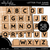 Letter Tile Game Clipart - Outlined