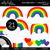 Rainbows and Hearts 2 Clipart - Unlined