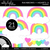 Rainbows and Hearts 3 Clipart - Unlined