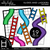 Slides and Ladders Clipart - Outlined