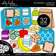 School Lunch - Outlined