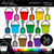 Shovels & Pails 2 Clipart - Outlined
