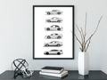 Shelby Mustang Evolution Posters