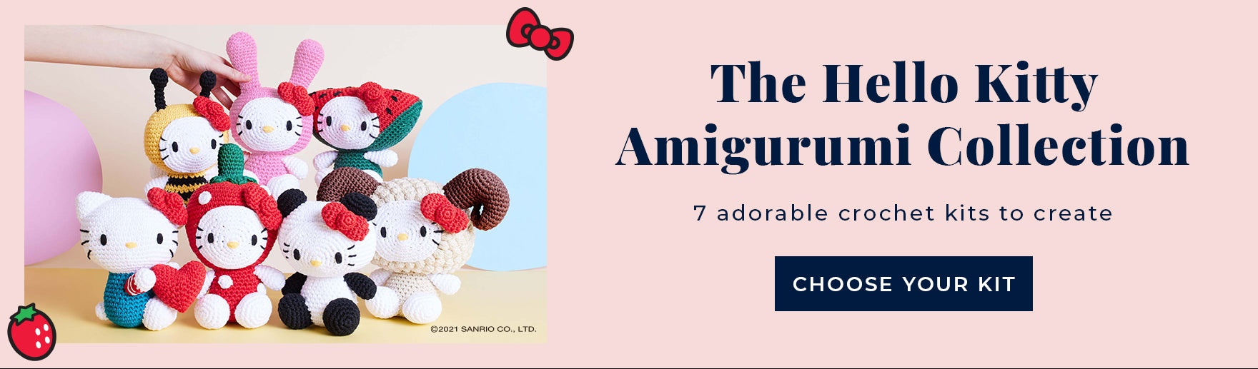Shop the Hello Kitty Amigurumi crochet kit collection at Stitch & Story