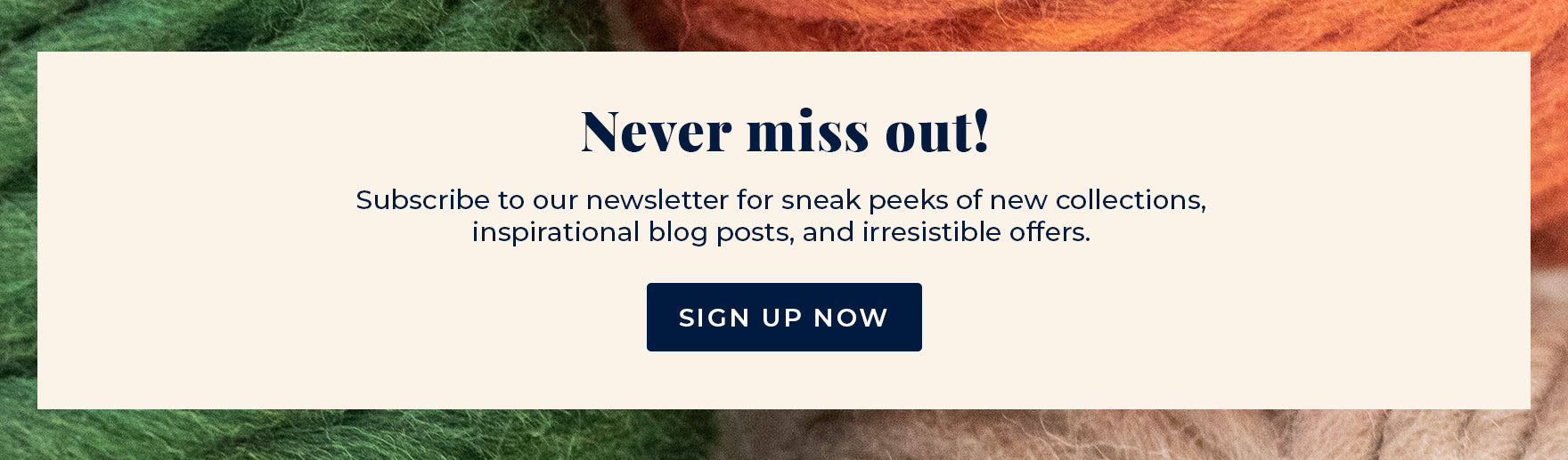 Subscribe to the Stitch & Story newsletter