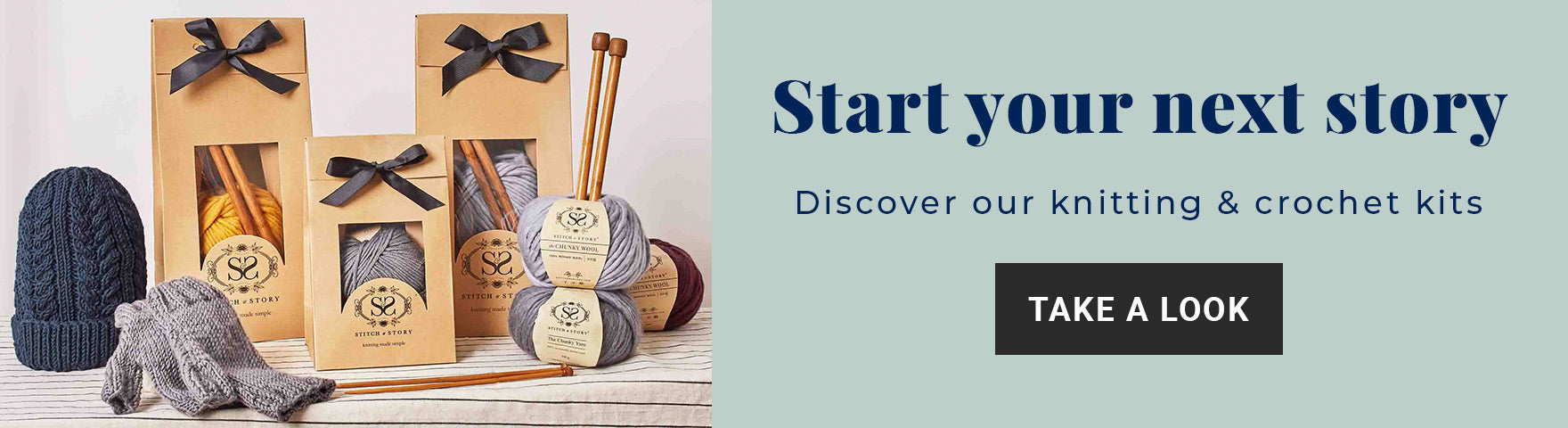 Shop for all-in-one knitting and crochet kits at Stitch & Story