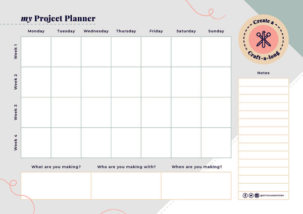 Download your free craft-a-long planner