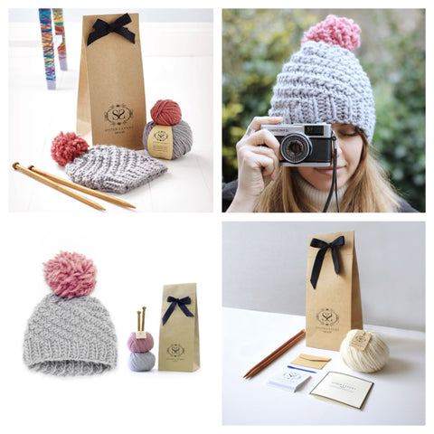 LUCA POM HAT BEGINNER KNITTING KIT