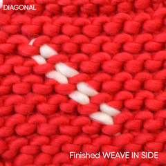How to sew in your ends diagonally