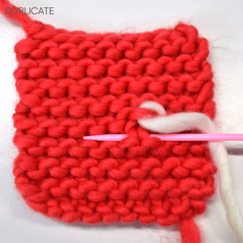 How to sew ends into garter stitch